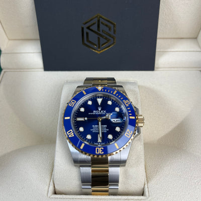 Rolex Submariner Date 126613LB Bi-Metal 41mm Brand New 2020 Full Set Watch