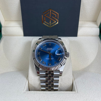 Rolex Datejust 41 126334 Azzurro Blue Dial Jubilee 2021 Unworn New Watch