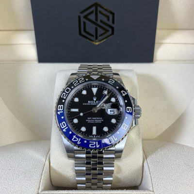 Rolex GMT-Master II 126710BLNR Batman Jubilee 2019 Mint Condition Watch