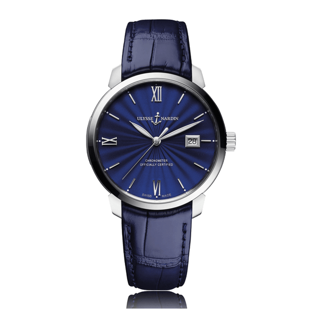 Ulysse Nardin Classico Automatic Stainless Steel Blue Dial Unisex Watch 8153-111-2/E3