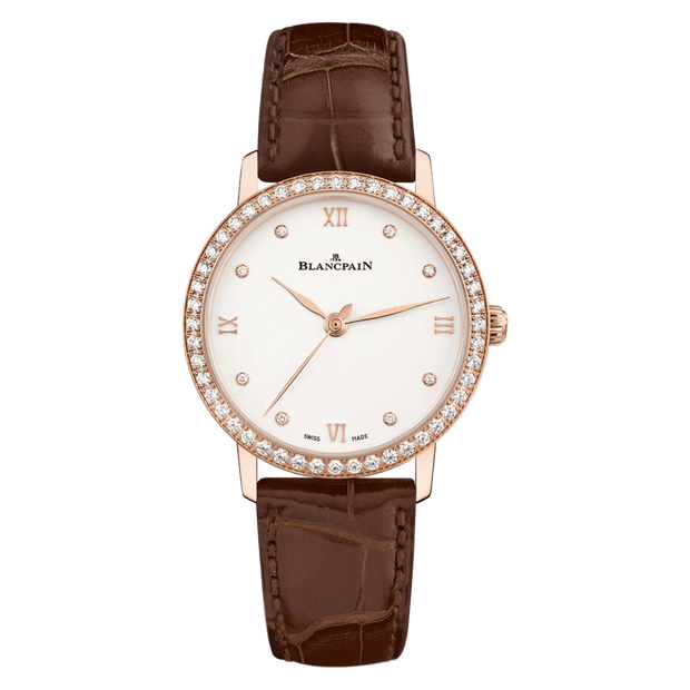 BLANCPAIN Women Manual Wind Stainless Steel White Round Dial Ladies Watch 6106 4628 55A