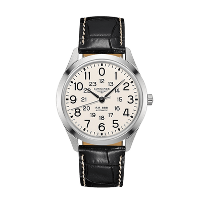 LONGINES Railroad Automatic Stainless Steel White Dial Mens Watch L28034230