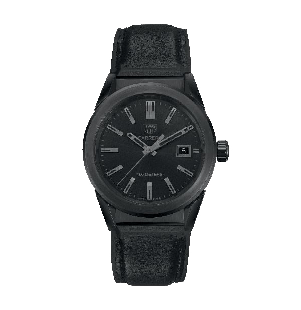 TAG HEUER Carrera Quartz Plated Stainless Steel - Carbon Black Dial Ladies Watch WBG1313.FT6117
