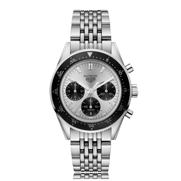 TAG HEUER Autavia Automatic Stainless Steel Silver Dial Mens Watch CBE2111.BA0687