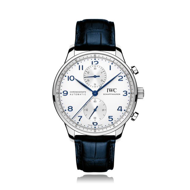 IWC Schaffhausen Portugieser Chronograph Blue Mens Watch IW371446