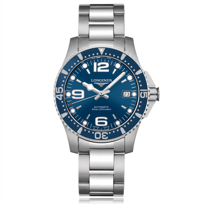 LONGINES HydroConquest Automatic Stainless Steel Blue Dial Mens Watch L37414966