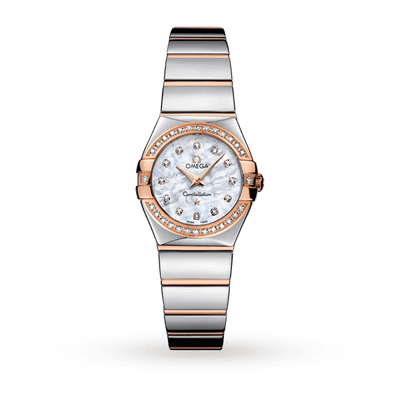 OMEGA Constellation 18ct Rose Gold Ladies Watch 123.25.24.60.55.005