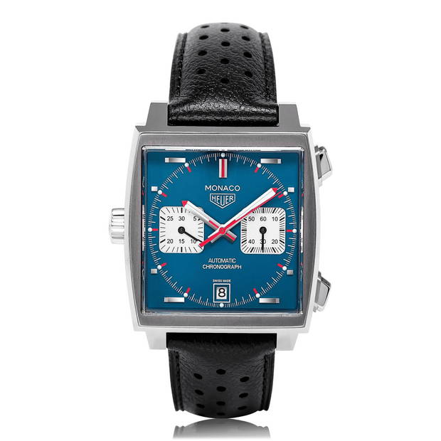 TAG HEUER Monaco Stainless Steel Blue Mens Watch CAW211P.FC6356