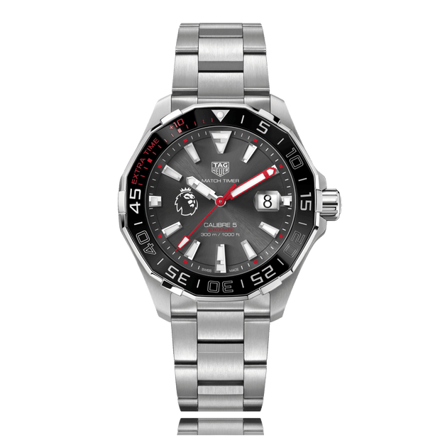 Tag HEUER Aquaracer Premier League Special Edition Automatic Stainless Steel Grey Dial Mens Watch WAY201D.BA0927