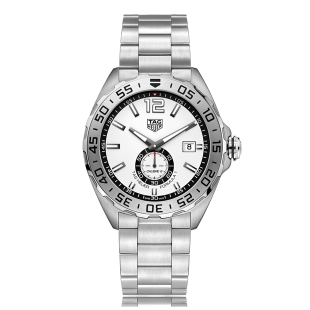 TAG HEUER Formula 1 Automatic Stainless Steel White Dial Mens Watch WAZ2013.BA0842