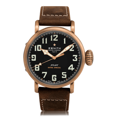 ZENITH Pilot Type 20 Extra Special Automatic Bronze Mens Watch 29.2430.679/21.C753
