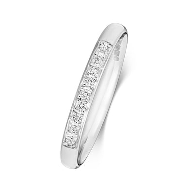 18CT WHITE GOLD 2.2MM DIAMOND ETERNITY RING 0.08CT DIAMOND