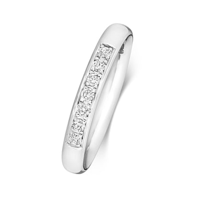 PLATINUM 2.7MM DIAMOND ETERNITY RING 0.12CT DIAMOND