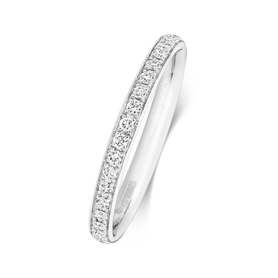 PLATINUM 2.2MM DIAMOND ETERNITY RING 0.28CT DIAMOND WEIGHT