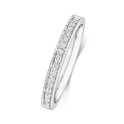 PLATINUM 2.7MM DIAMOND ETERNITY RING 0.17CT DIAMOND