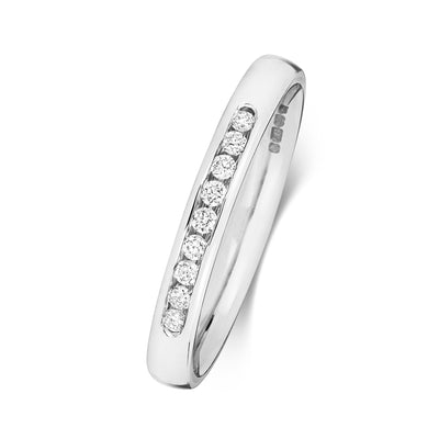18CT WHITE GOLD 2.7MM DIAMOND ETERNITY RING 0.11CT DIAMOND
