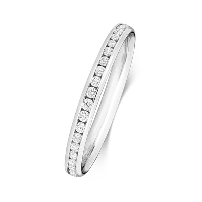 18CT WHITE GOLD 2.2MM DIAMOND ETERNITY RING 0.29CT DIAMOND