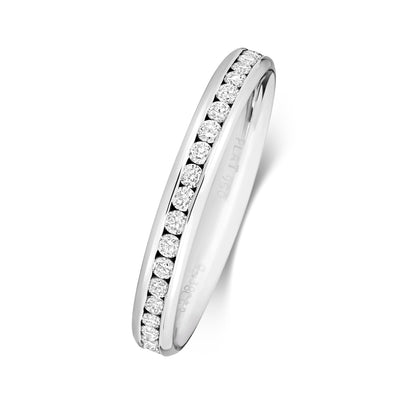 18CT WHITE GOLD 2.7MM DIAMOND ETERNITY RING 0.35CT DIAMOND