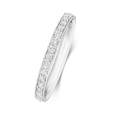 18CT WHITE GOLD 2.2MM FULL DIAMOND ETERNITY RING 0.36CT DIAMOND