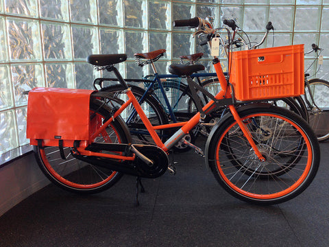 Bike with orange bike bag