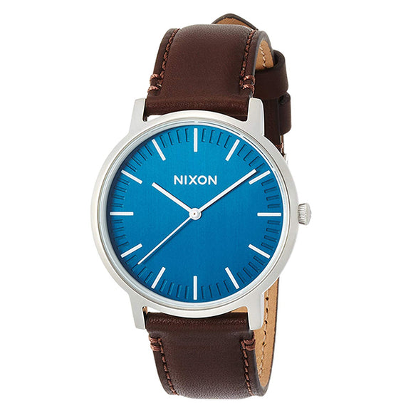 [NIXON ニクソン] 腕時計 PORTER LEATHER NAVY/BROWN  正規輸入品 ユニセックス