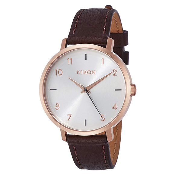 [NIXON ニクソン] 腕時計 ARROW LEATHER ROSE GOLD/SILVER 正規輸入品 レディース