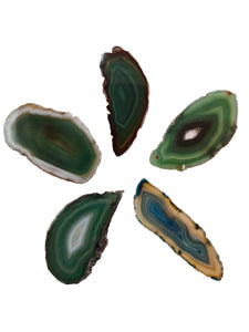 Agate Green Size 1* Pack of 5-Oddball Crystals