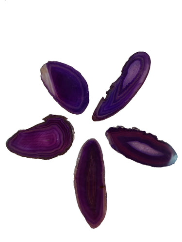 Agate Purple Size 1* Pack of 5-Oddball Crystals