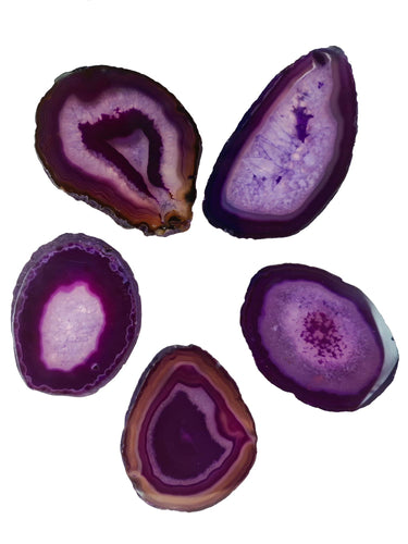 Agate Purple Size 2* Pack of 5-Oddball Crystals