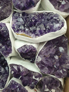 Amethyst Clusters Box-Mixed Chunks Boxes-Oddball Crystals