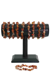 Carnelian Chips Bracelets Pack of 5-Wholesale-Oddball Crystals