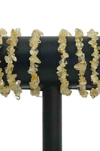 10 Citrine Chips Bracelets Wholesale - odd-ball-crystals