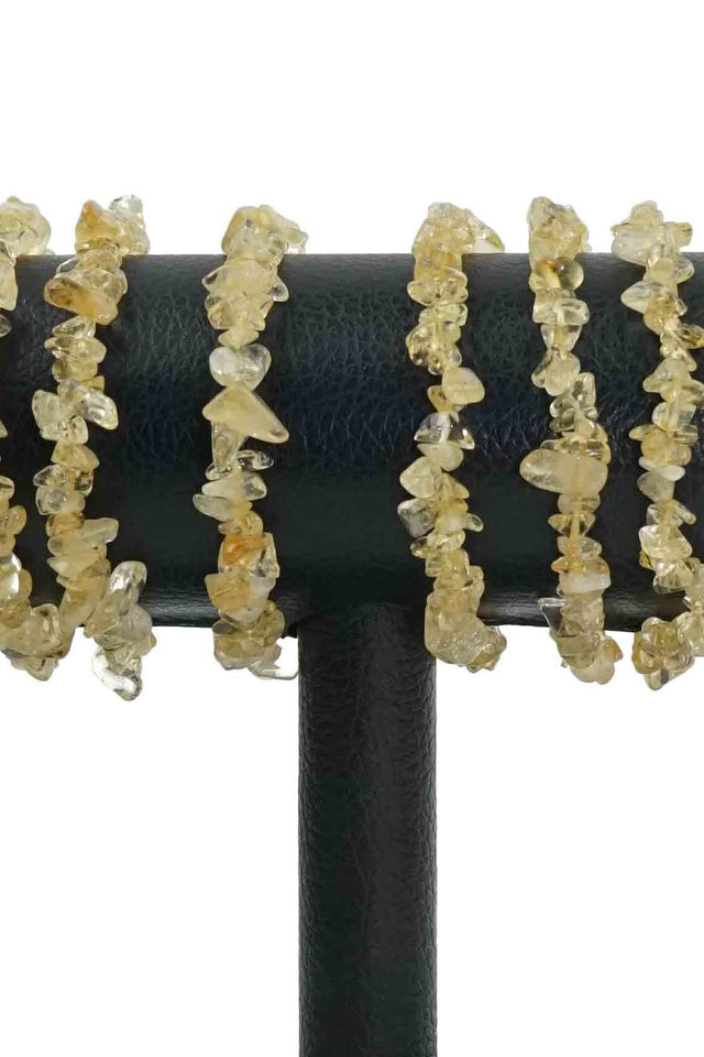 Citrine Chips Bracelets Pack of 5-Wholesale-Oddball Crystals