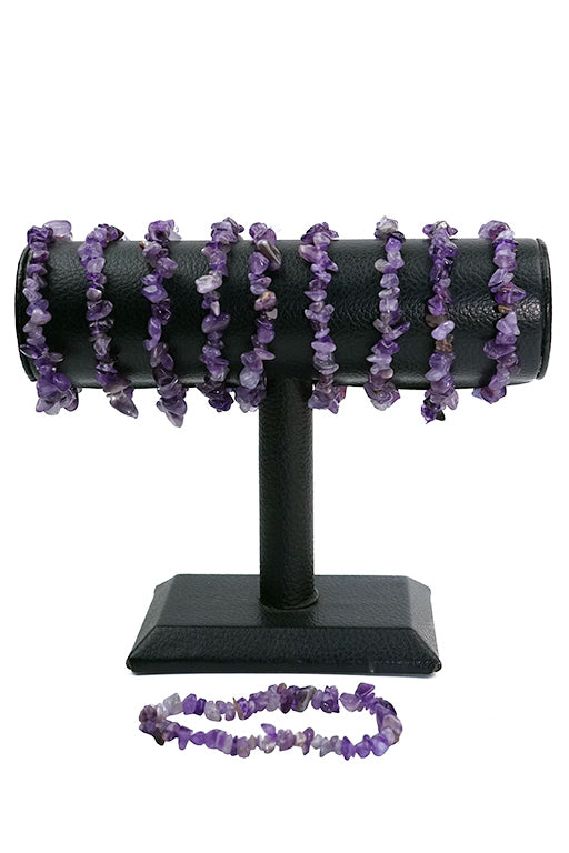 Amethyst Chips Bracelets Pack of 5-Wholesale-Oddball Crystals