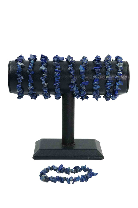 Lapis Lazuli Chips Bracelets Pack of 5-Wholesale-Oddball Crystals