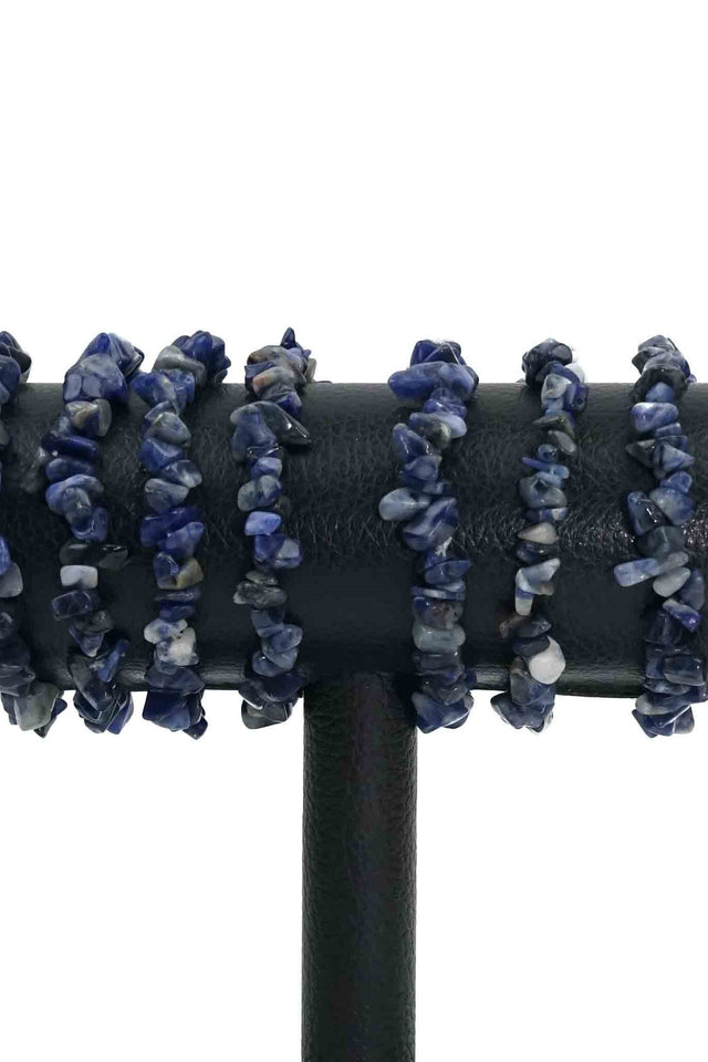 Sodalite Chips Bracelets Pack of 5-Wholesale-Oddball Crystals