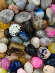 Mixed Tumble Stones 1kg-Wholesale-Oddball Crystals