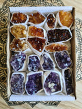 Amethyst and Citrine Clusters Box-Oddball Crystals