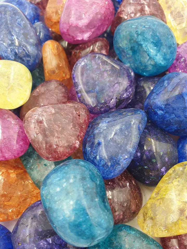 Crackle Quartz Tumbles 1kg-Wholesale-Oddball Crystals