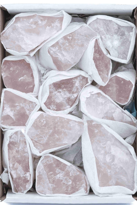 Rose Quartz Box-Mixed Chunks Boxes-Oddball Crystals