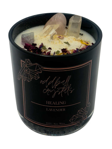 Crystal Candle - Intention Healing-Oddball Crystals