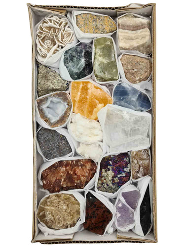 Mixed Mineral Specimens Box-Oddball Crystals