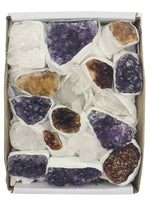 Quartz - Amethyst - Citrine Box-Mixed Chunks Boxes-Oddball Crystals