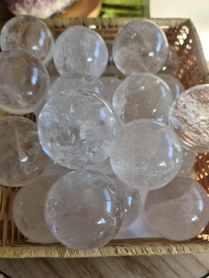 Quartz Spheres Large 2 pieces-Oddball Crystals