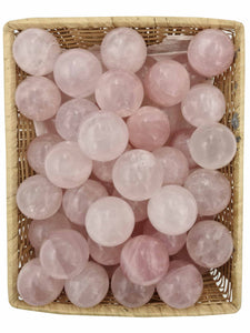 Rose Quartz Spheres 3 Piece-Oddball Crystals