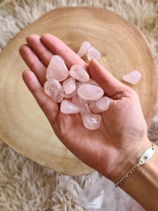 Rose Quartz Tumbles 250g - Small-Oddball Crystals