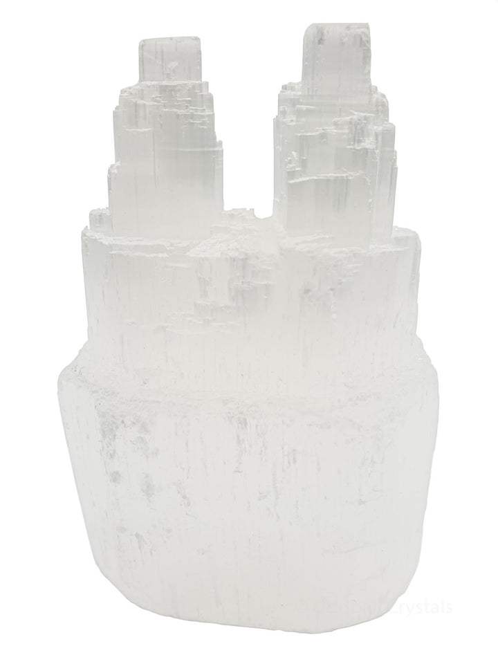 5 x Selenite Twin Towers Wholesale odd-ball-crystals.myshopify.com