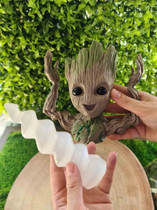 Groot Intention Selenite Unicorn Horn Bundle-bundles-Oddball Crystals