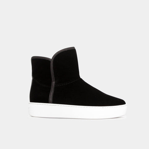 Woody Mid - Black Velvet-Public Relations Footwear