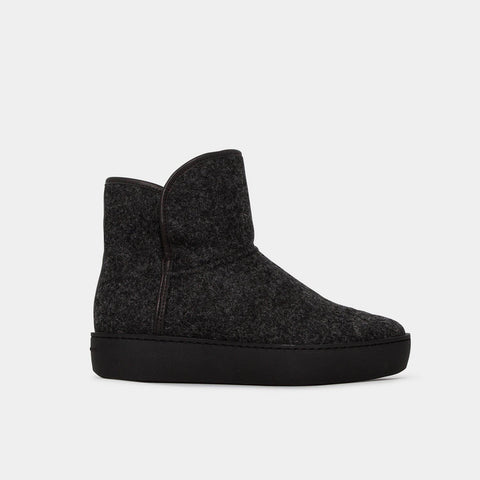 Woody Mid - Black Wool Black Outsole-Public Relations Footwear